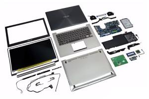 Ремонт корпусных деталей ноутбука