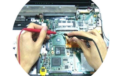 Repair of the internal power supply of the laptop